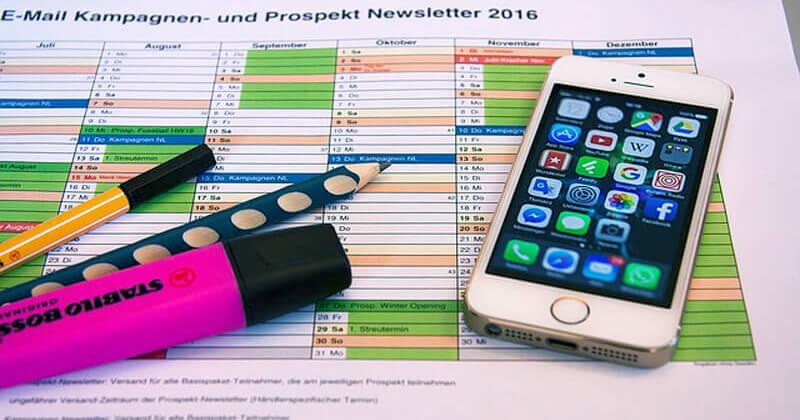 Planificar campaña de email marketing